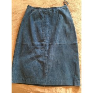 Terry Lewis suede skirt